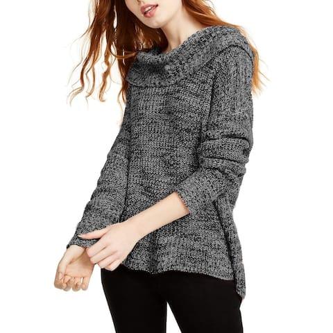 American Rag Juniors' Cowlneck Sweater Black Size Large