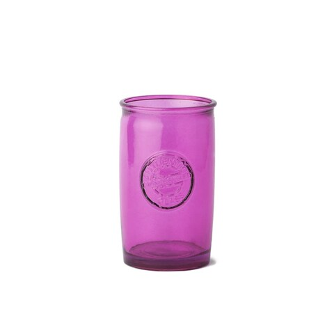 WS Bath Collections Saon 44016 Glass Toothbrush Holder from the Saon Collection - Pink - N/A