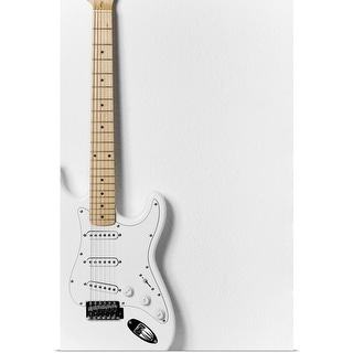 """""""White electric guitar"""" Poster Print"""