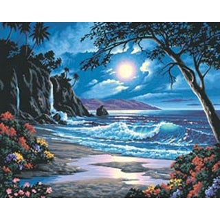 "Moonlit Paradise - Paint Works Paint By Number Kit 20""X16"""
