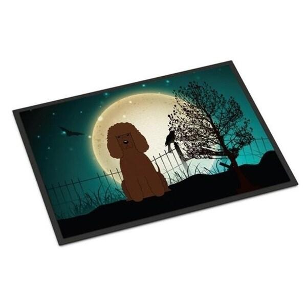 Carolines Treasures BB2253JMAT Halloween Scary Irish Water Spaniel Indoor or Outdoor Mat 24 x 0.25 x 36 in.