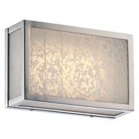 Metropolitan N1741-L 1-Light LED ADA Compliant Bathroom Bath Bar with Frosted Shades from the Lake Frost Collection