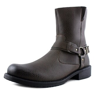 Robert Wayne Mens Connor Closed Toe Mid-Calf Motorcycle Boots