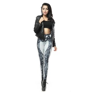 Fashion Lady Design Pattern Printed Light Bionic Legs Stretch Tight Leggings Skinny Pants
