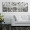 Statements2000 Silver 5 Panel Modern Metal Wall Art Sculpture by Jon Allen - Vortex 5P - Thumbnail 7