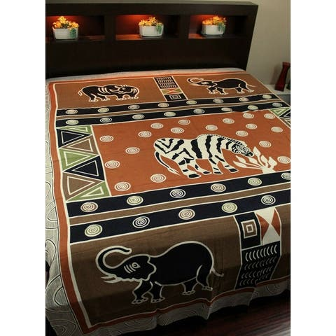 Cotton African Animal Print Cotton Tapestry Wall Hang Tablecloth Rectangle Thin Bedspread Full Beach Sheet Bed Sheet