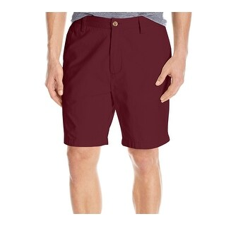 Nautica Burgundy Red Mens Size 32 Khakis Flat-Front Deck Shorts