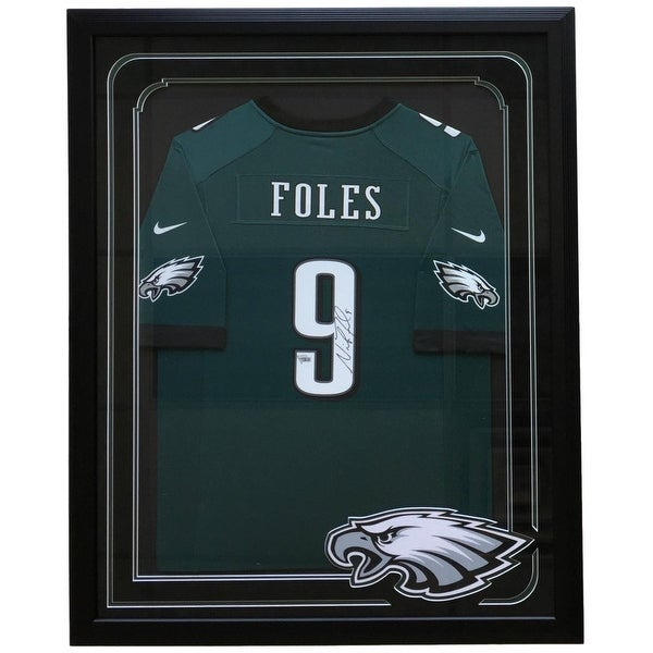 timeless design 38527 7b2f1 Nick Foles Signed Framed Eagles Green Nike Game Replica Jersey Fanatics