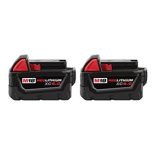 Replacement 6000mAh Battery for Milwaukee 2713-22 / 2758-22 / 2897-22 Power Tools (2 Pk)