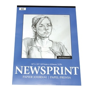 Jack Richeson Rough Newsprint Pad, 32 lb, 9 x 12 in, 50 Sheets