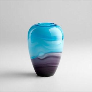 "Cyan Design 4809 9.5"" Callie Vase - turquoise / purple"