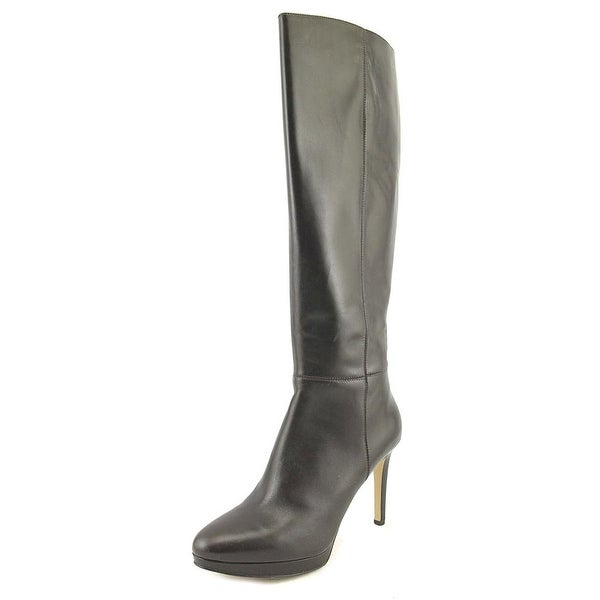 Nine West Okena Women Round Toe Leather Brown Knee High Boot