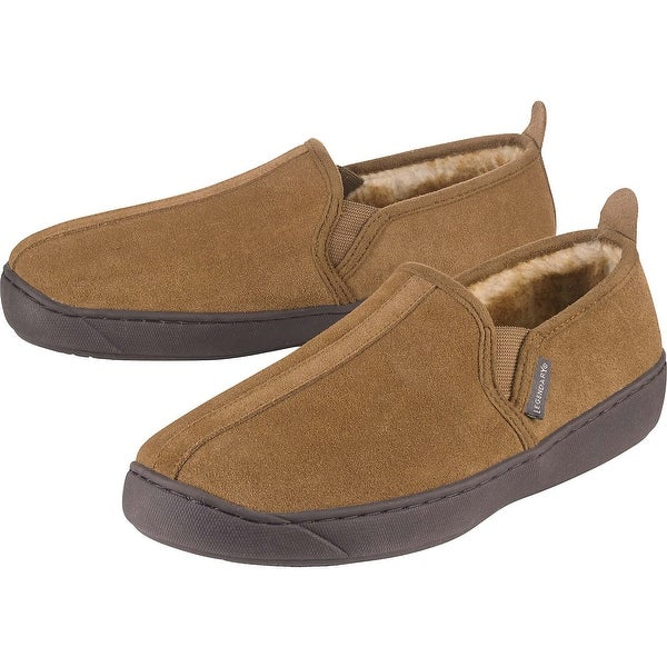 Legendary Whitetails Mens Casual Suede Slip On - Brown