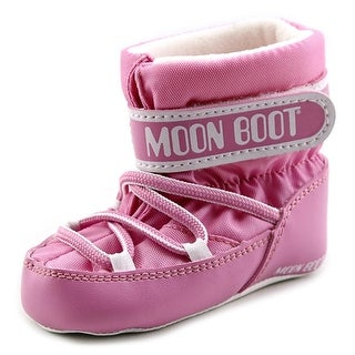 Tecnica Moon Boot Crib Youth Round Toe Canvas Pink Winter Boot