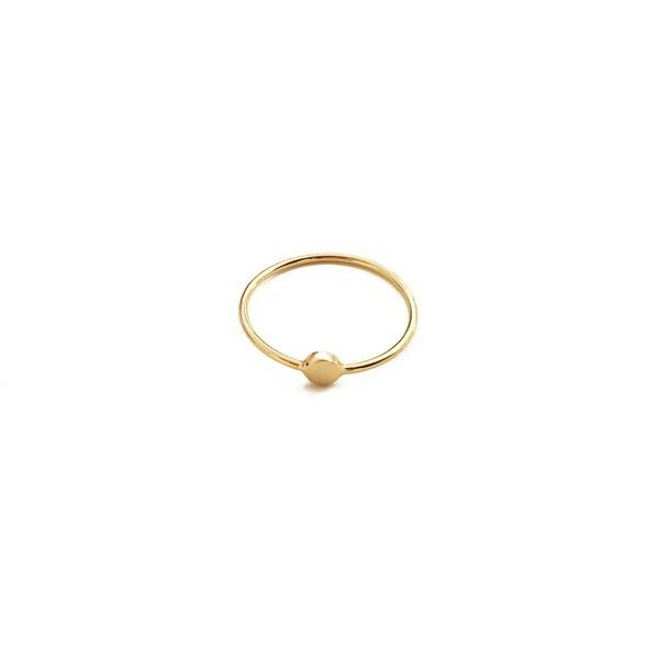 Honeycat Tiny Circle Ring (Delicate Jewelry)