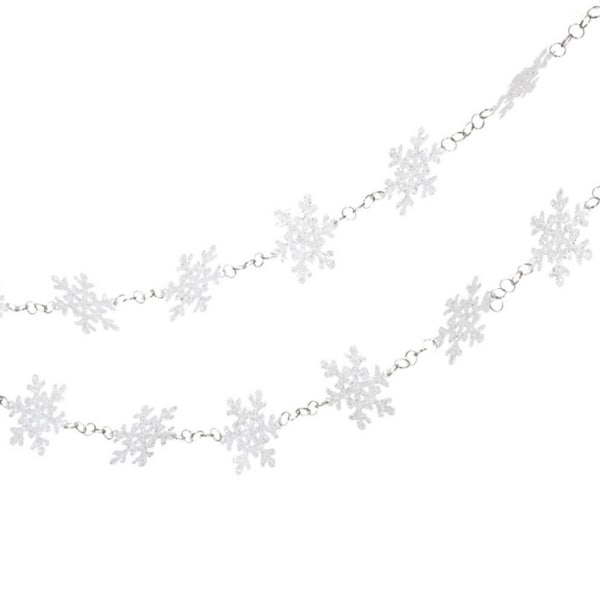 6' Glittered White Snowflake Novelty Christmas Garland - Unlit