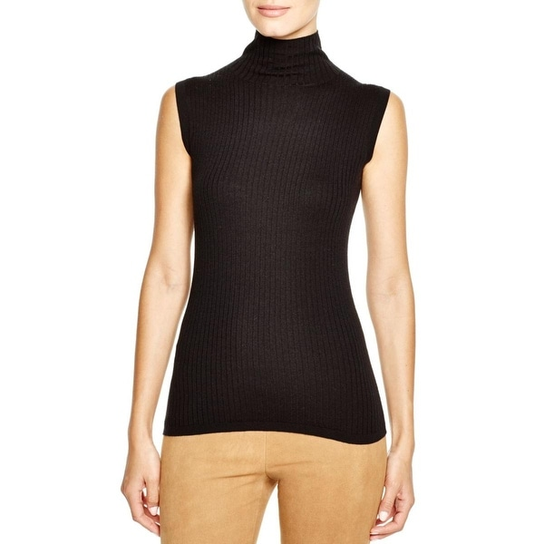 Vince Womens Blouse Cashmere Blend Ribbed