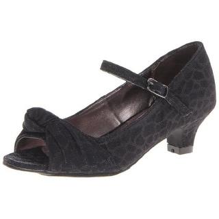Steve Madden Girls Betty Glitter Peep-Toe Heels
