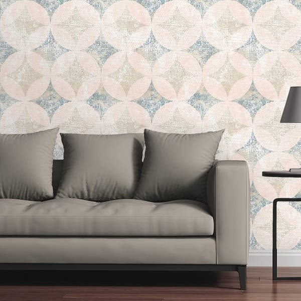 Circle Art Group Removable Wallpaper Tile Distressed Beach