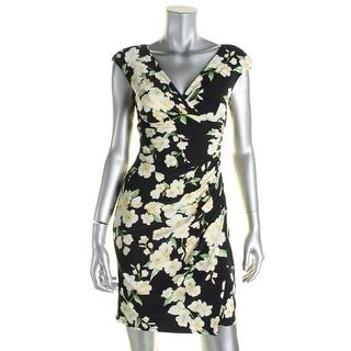 Lauren Ralph Lauren Womens Petites Wear to Work Dress Polyester Floral Print