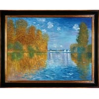 Autumn at Argenteuil by Claude Monet Framed Hand Painted Oil on Canvas