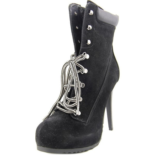 Famous Name Brand Rand   Round Toe Synthetic  Ankle Boot