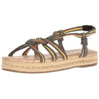 Circus by Sam Edelman Womens athena Canvas Open Toe Walking Strappy Sandals