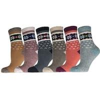 Women's 6 Pairs Socks Size 6-9 Wool Blend Warm Winter Crew Women Socks