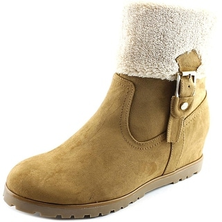 Tommy Hilfiger Soffia 2 Women Round Toe Suede Tan Mid Calf Boot