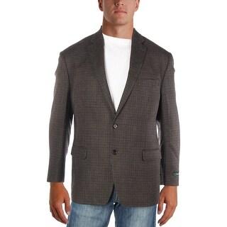 Lauren Ralph Lauren Mens Two-Button Blazer Wool Houndstooth
