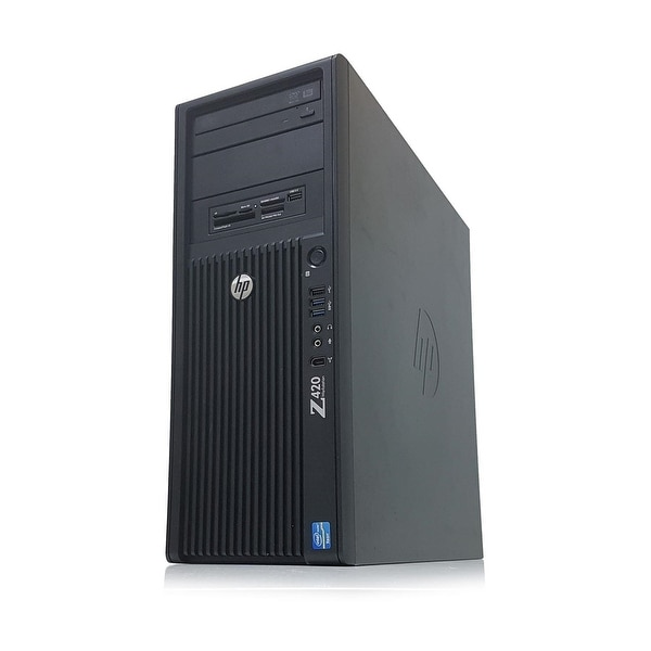 HP Z420 Intel Xeon E5-1650 X6 3 2GHz 8GB 500GB Win10, Black (Certified  Refurbished)
