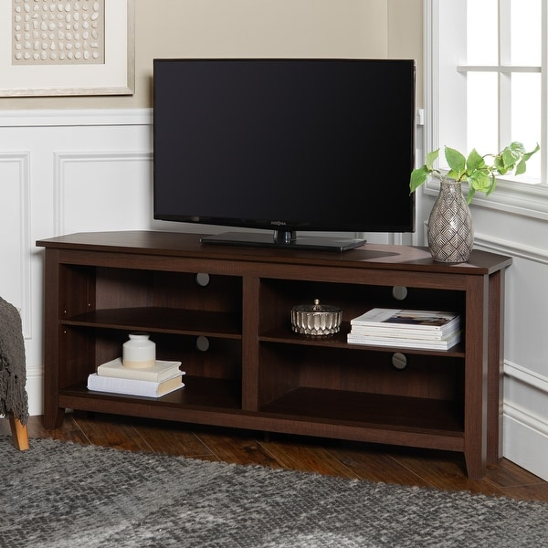 Porch & Den Ogden 58-inch Corner TV Stand Console. Opens flyout.
