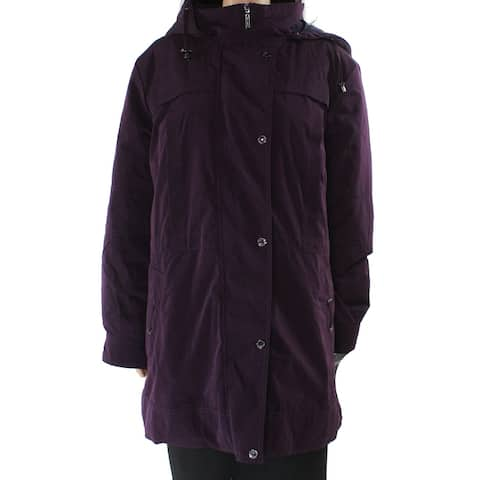 G Gallery Women's Coat Dark Purple Size 1X Plus Peacoat Full-Zipped
