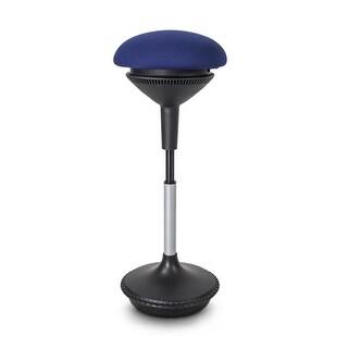 """Vifah A78 Autonomous Smart Office 13-1/2"""" Wide Adjustable Office Stool - Blue"""