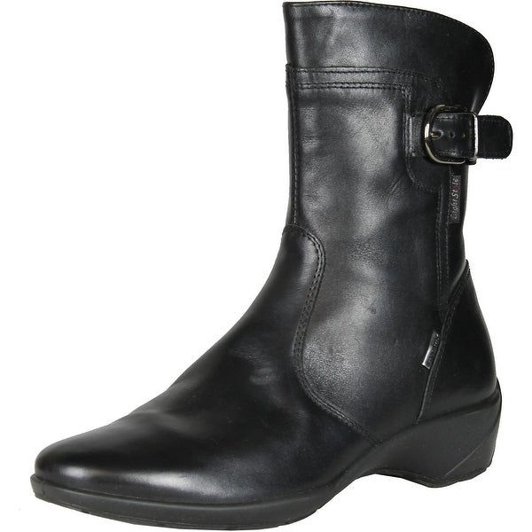 Imac Womens 52358 Leather Waterproof Fashion Boots Made In Italy