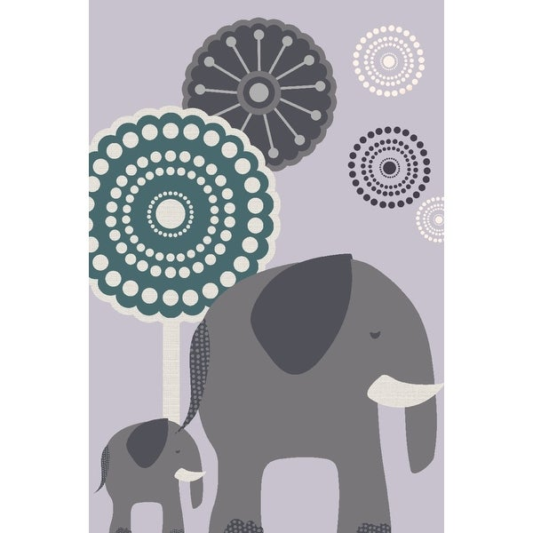 Simple Elephant - Purple - LP Artwork (100% Cotton Towel Absorbent)