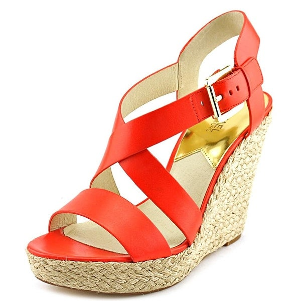 Michael Kors Women's Giovanna Leather Wedge Sandal
