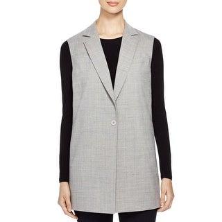 DKNY Womens Vest Wool Notch Collar