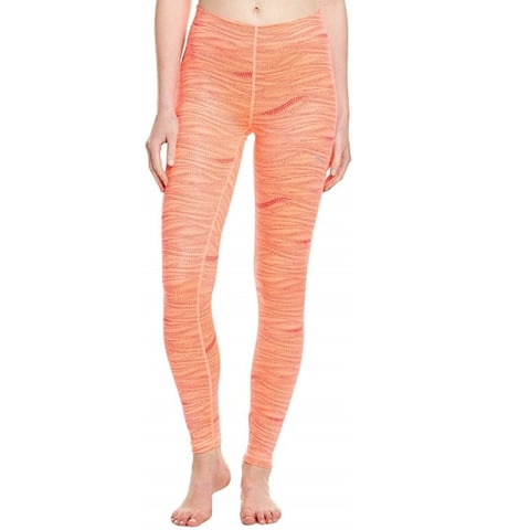 PUMA Women's All Eyes On Me Tights, Fluro Peach/Red, S