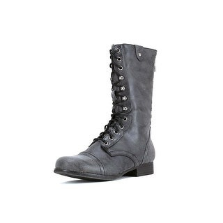 Madden Girl Galeriaa Round Toe Synthetic Mid Calf Boot