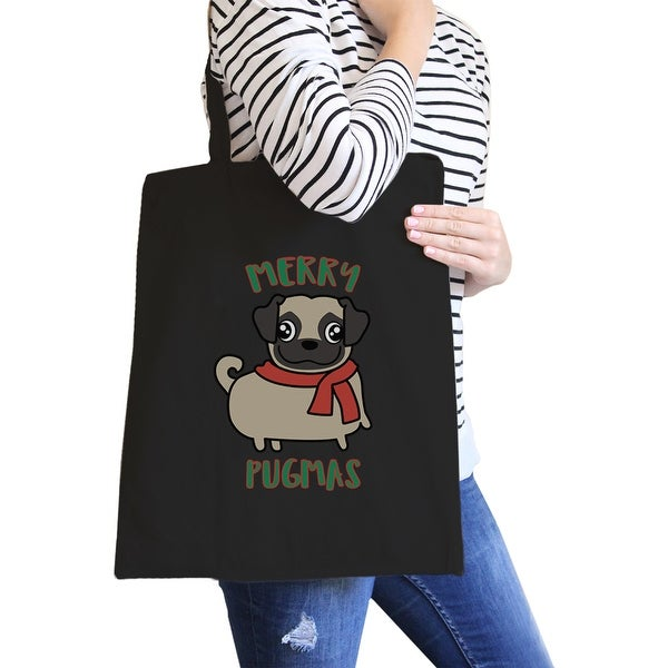 Shopping Bags Functional Bags Fashion Canvas Shopping Bag Pug Printing Woman Casual Tote Eco-friendly Shoulder Handbag Spring Summer Holiday Beach Bag Bringing More Convenience To The People In Their Daily Life