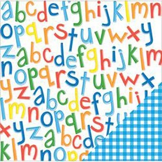 "Primary Alphabet - American Crafts School Double-Sided Cardstock 12""X12"""