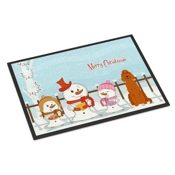 Carolines Treasures BB2395JMAT Merry Christmas Carolers Irish Setter Indoor or Outdoor Mat 24 x 0.25 x 36 in.