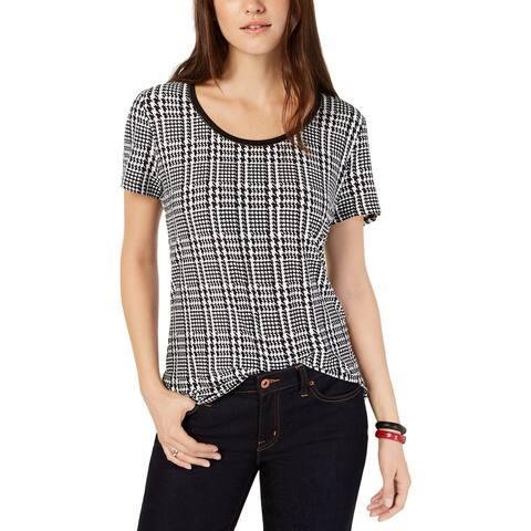 Tommy Hilfiger Womens T-Shirt Printed Ladder Stitch - S