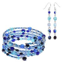 Mandy Earring and Bracelet Set (Blue) - Exclusive Beadaholique Jewelry Kit