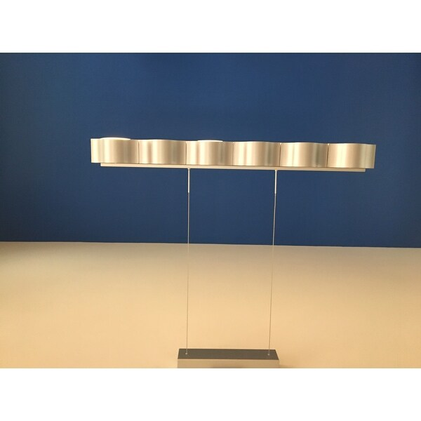 Vonn lighting vmc32100al asellus 38 inch led modern linear chandelier in silver free shipping today overstock 17756626