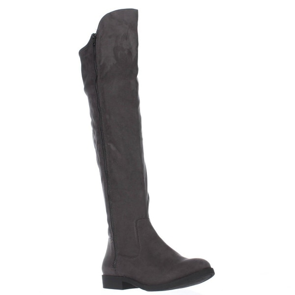 SC35 Hadleyy Over The Knee Boots, Charcoal