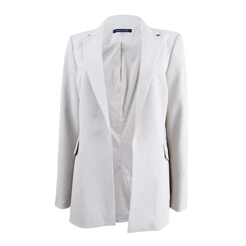 Tommy Hilfiger Women's Open Front Two Pocket Jacket (8, Grey)