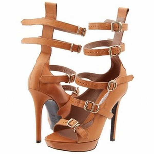 Vivienne Westwood NEW Brown Womens Shoes Size 7.5M Leather Sandal