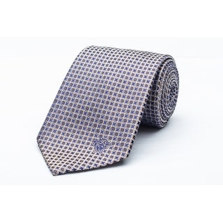 Versace Men's Medusa Logo Foulard Pattern Silk Neck Tie